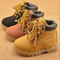 Autunm Winter Girls Boys Fashion Boots Children Martin Boots Kids Boots Children Kids Casual Shoes Sneakers For Boys Girls