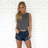 Staycation Tank Top in Grey