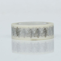 Washi Tape - Silver Fly 10 metres WT567
