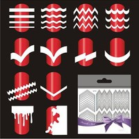 5 Sheets French Manicure Nail Art Tip Form Guide Sticker Polish DIY Stencil Tool