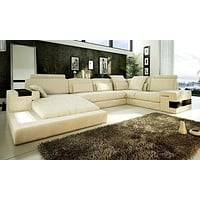 Hot Sale Leather Modern Sectional  Sofa For Living Room