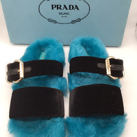 PRADA Fashion Wool Slipper