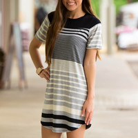 The Comfy And Cute Dress-Black