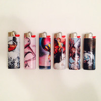 Custom Decorated Lighters (Set of 5) (ANY IMAGE)