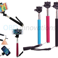 Selfie Stick Handheld Extendable Monopod + Phone Mounting Clip