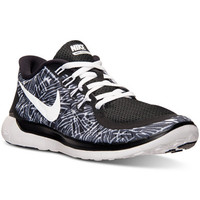 Nike Women's Free 5.0 Print Running Sneakers from Finish Line - Finish Line Athletic Shoes - Shoes - Macy's