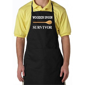 Funny Aprons For Women, Men | Black Apron with Pockets | Our T-Shirt Shack