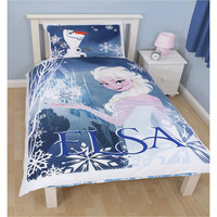 Disney's Frozen single bedding featuring Elsa at Children's Rooms.