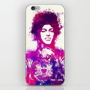Prince watercolor purple iPhone & iPod Skin by GreatArtGallery