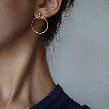 Accessory Geometric Ring Earrings [10444700692]