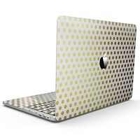 The All Over Golden Dot Pattern - MacBook Pro with Touch Bar Skin Kit