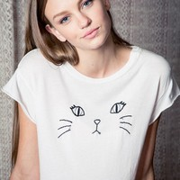 ELIN KITTY EMBROIDERY TOP
