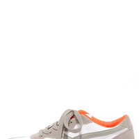 Running Man Stone Grey Lace-Up Sneakers