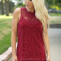 Our Favorite Hello Dress in Wine