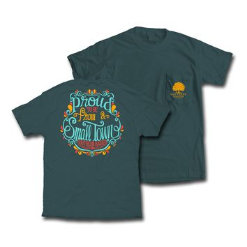 """Southern Raised """"Swirly Proud"""" Tee on Comfort Colors"""