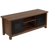 New Lancaster Collection Storage Bench with Metal Cabinet Doors