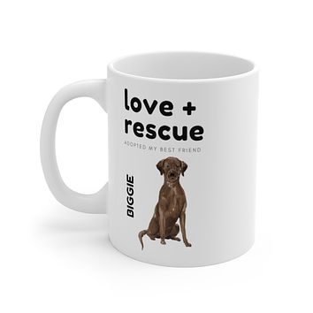 love + rescue Mug — Chocolate Lab