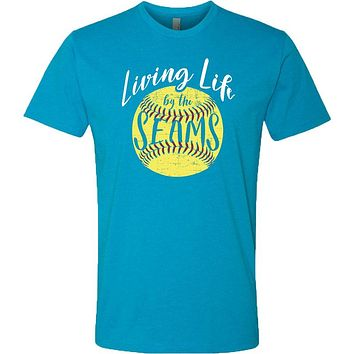 Southernology Statement Softball Life by the Seams Canvas T-Shirt