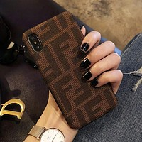 FENDI Hot Sale Fashion Simple F Letter Mobile Phone Cover Case For iphone 6 6s 6plus 6s-plus 7 7plus 8 8plus X XsMax XR