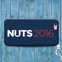 iPhone 4 4s 5 5s 5c 6 6s plus iPod Touch 4th 5th 6th Generation Cover Funny Custom Vote President 2016 Nuts Fun Politics Cute Phone Case