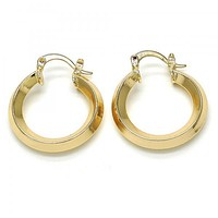 Gold Layered 02.261.0028.25 Small Hoop, Polished Finish, Golden Tone