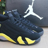 Air Jordan 14 Retro AJ14 Black/Yellow Sport Shoe