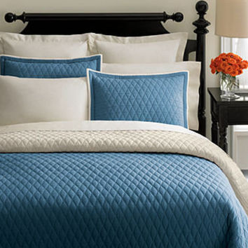 Martha Stewart Collection Bedding, Solid Diamond Quilts - Quilts & Bedspreads - Bed & Bath - Macy's
