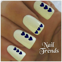Heart Nail Decal. 20 Vinyl Stickers Nail Art