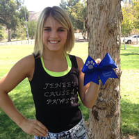 Jenee's Cause 4 Paws Signed Bow - 100% Proceeds Go To Charity - From Cali SMOED