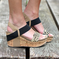 Fierce Strappy Wedges {Leopard}