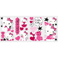 Roommates Rmk2015Scs Hello Kitty Couture Peel And Stick Wall Decals, 38 Count