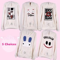 Winter Kawaii Patterns Double-Sided Fleece Hooded Sweater Jumper Pull Over Top Free Ship SP141432 from SpreePicky