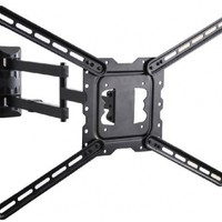 """VideoSecu 24"""" Long Arm TV Wall Mount Low Profile Articulating Full Motion Cantilever Swing Tilt wall bracket for most 22"""" to 55"""" LED LCD TV Monitor Flat Screen VESA 200x200 400x400 up to 600x400mm MAH"""