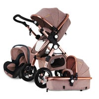 Baby Stroller 3 in 1 with Car Seat For Newborn High View Pram Folding Baby Carriage 2 in 1 Travel System