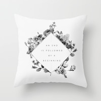 The End Is The Beginning Throw Pillow by Galaxy Eyes