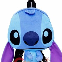 Disney Lilo and Stitch Boys & Girls Blue Stitch 3D Shaped Plush Backpack
