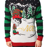 Ugly Christmas Sweater Men's Naughty Noel Pullover Sweater