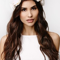 With Love From CA Flower Crown - Womens Jewelry - White - One