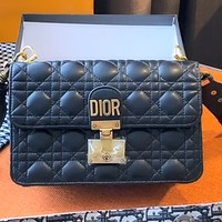 Dior Women's Diamond Shoulder Bag Crossbody Bag