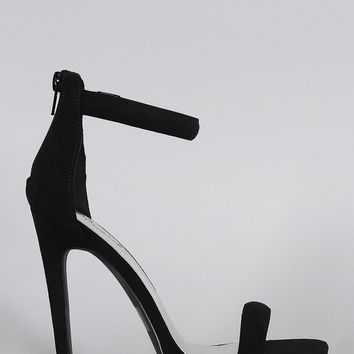 Qupid Classic Ankle Strap Open Toe Heel