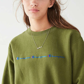 Champion & UO Reverse Weave Graphic Sweatshirt   Urban Outfitters