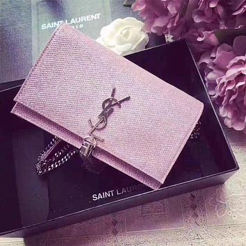 YSL SAINT LAURENT KATE MONOGRAM CHAIN TASSEL SHOULDER BAG