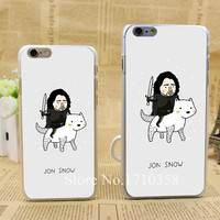 jon snow game of throne hellip Style Fashion Hard Transparent Clear Back Style Case for iPhone 6 6s 6 plus Cover