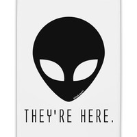 """Alien They Are Here Fridge Magnet 2""""x3"""