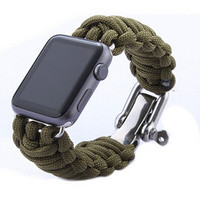 New Parachute Cord Line Watch Band For Apple Watch Band Smart iWatch Strap Outdoor Sports Bracelet Bands With Adapters 38MM 42MM