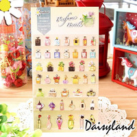 Kawaii Perfume Bottle Decorative Washi Stickers Scrapbooking Stick Label Diary Stationery Album Stickers
