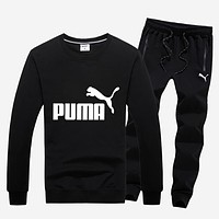 Puma Women Men Fashion Casual Top Sweater Pants Trousers Set Two-Piece