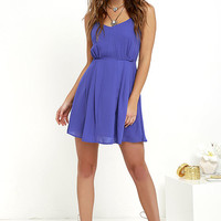 Jack by BB Dakota Nellie Royal Blue Dress