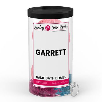GARRETT Name Jewelry Bath Bomb Tube