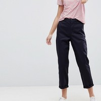 ASOS DESIGN chino pants in navy at asos.com